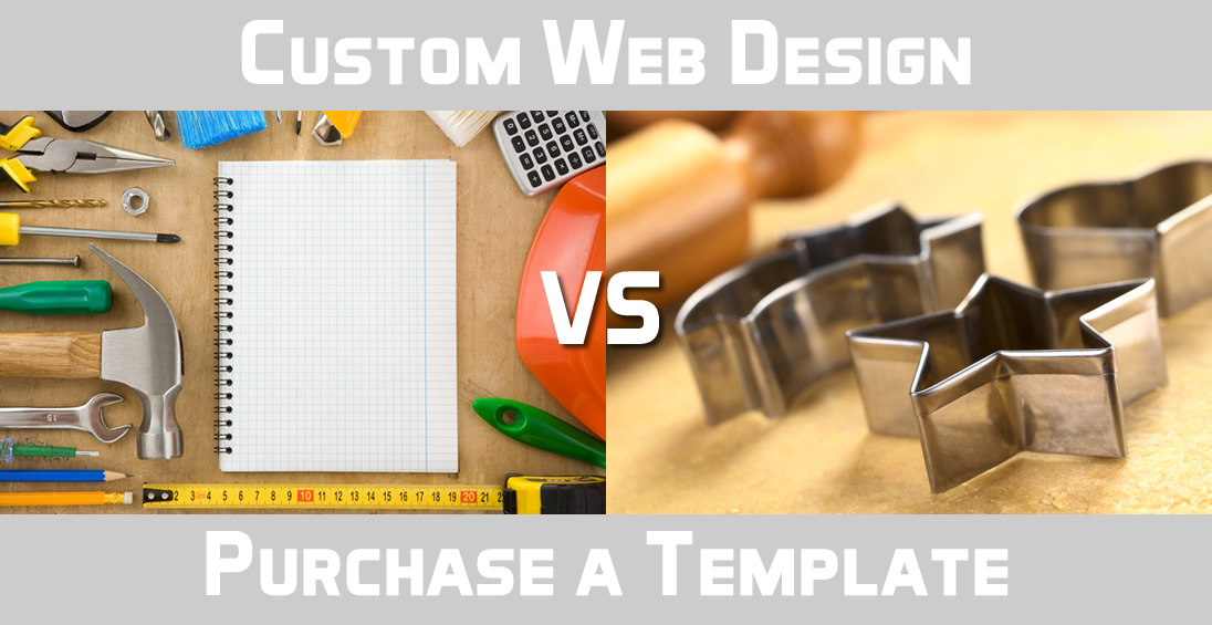 Custom website design vs purchasing a template
